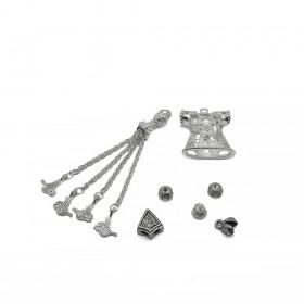 Tesbih Seti Gümüş Kılıç Figürü Model