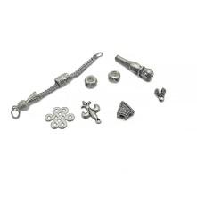 Tesbih Seti Gümüş Tura Figürü Model - Toptan