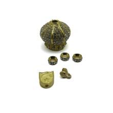 Tesbih Seti Gold Kristal Taşlı Model - Toptan