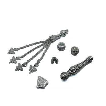 Tesbih Seti Gümüş Kelebel Uçlu Model - Toptan