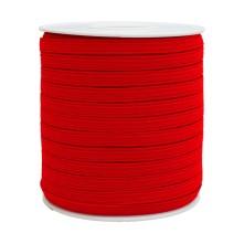 1250 Metre - 12 mm Kırmızı Yassı Lastik