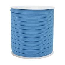 12 mm Bebe Mavisi Yassı Lastik - 50 Metre