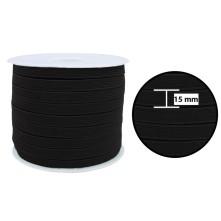 1250 Metre - 15 mm Siyah Yassı Lastik