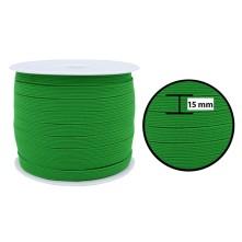 1250 Metre - 15 mm Yeşil Yassı Lastik