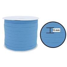 1250 Metre - 15 mm Bebe Mavisi Yassı Lastik