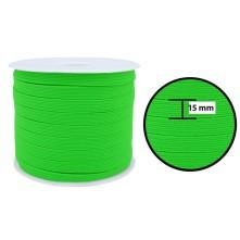 1250 Metre - 15 mm Neon Yeşil Yassı Lastik