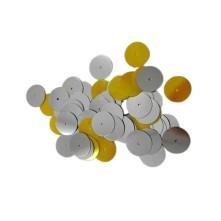 Tekstil Oya Gümüş Plastik Pul - 50 Gr 100 Gr