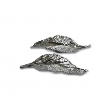Epoksi Tepsi Kulbu Gümüş Yaprak Model