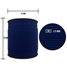 2500 Metre - 1.5 mm Lacivert Şapka Lastik - Yuvarlak Lastik