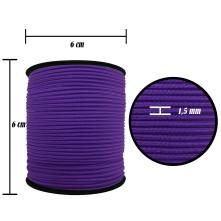 2500 Metre - 1.5 mm Mor Şapka Lastik - Yuvarlak Lastik