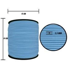 2500 Metre - 1.5 mm Bebe Mavisi Şapka Lastik - Yuvarlak Lastik