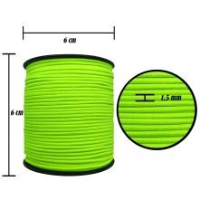 1.5 mm Neon Sarı Yassı Lastik - 100 Metre
