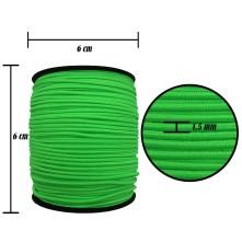 2500 Metre - 1.5 mm Neon Yeşil Şapka Lastik - Yuvarlak Lastik