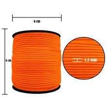 2500 Metre - 1.5 mm Neon Turuncu Şapka Lastik - Yuvarlak Lastik