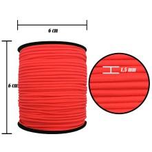 1.5 mm Neon Pembe Yassı Lastik - 100 Metre
