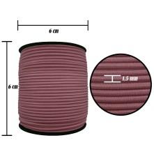 2500 Metre - 1.5 mm Gül Kurusu Şapka Lastik - Yuvarlak Lastik