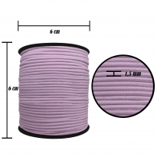 2500 Metre - 1.5 mm Lila Şapka Lastik - Yuvarlak Lastik