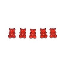 Haribo Ayıcık Akrilik Boncuk- Kırmızı