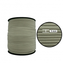 1250 Metre - 3 mm Beyaz Yuvarlak Lastik