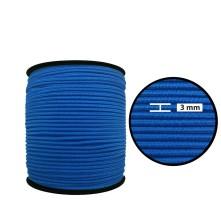 1250 Metre - 3 mm Koyu Mavi Yuvarlak Lastik