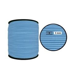 1250 Metre - 3 mm Bebe Mavisi Yuvarlak Lastik