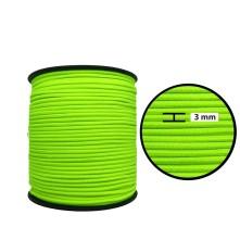 3 mm Neon Sarı Yassı Lastik - 50 Metre