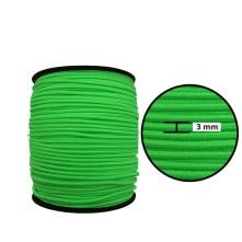 3 mm Neon Yeşil Yassı Lastik - 50 Metre