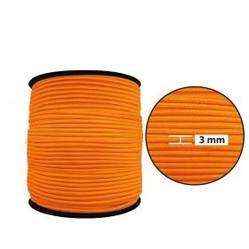 3 mm Neon Turuncu Yassı Lastik - 50 Metre