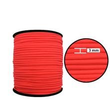 3 mm Neon Pembe Yassı Lastik - 50 Metre