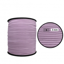 3 mm Lila Yassı Lastik - 50 Metre