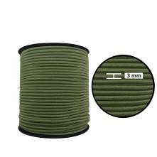 3 mm Haki Yassı Lastik - 50 Metre