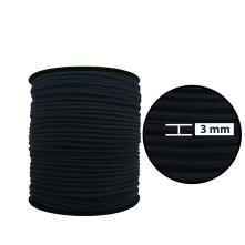 3 mm Siyah Yassı Lastik - 100 Metre