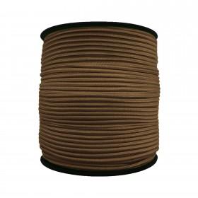 3 mm Kahve Yassı Lastik - 100 Metre
