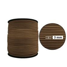 2500 Metre - 3 mm Kahve Yuvarlak Lastik
