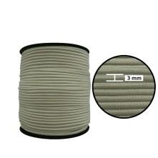 3 mm Bej Yassı Lastik - 100 Metre