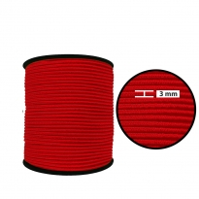 3 mm Kırmızı Yuvarlak Lastik - 100 Metre