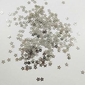 Oyalık Metal Pul Kulplu Yıldız 10 mm Renk Gümüş