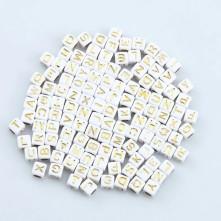 Beyaz Zar Plastik Harf Boncuk - 250 Gr