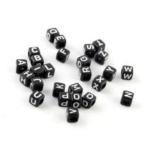 Siyah Zar Plastik Harf Boncuk - 50 Gr