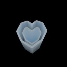 Kalp Reçine Epoksi Kalıp -  953
