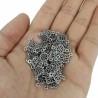 Metal Kolye Küpe Ucu - Gümüş Toptan