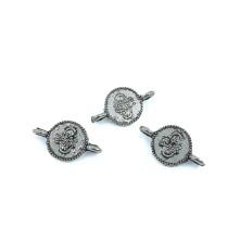 Metal Kolye Küpe Ucu Çift Kulplu - Gümüş