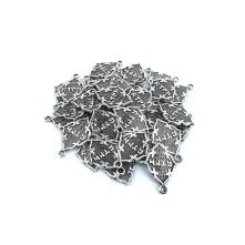 Metal Kolye Küpe Ucu - Göktürk Yazılı Gümüş Toptan