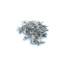 Metal Kolye Küpe Ucu - Kuş Patisi Gümüş Toptan