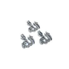 Metal Kolye Küpe Ucu - Allah Yazılı Gümüş Toptan
