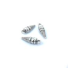Metal Kolye Küpe Ucu  - Damla Gümüş