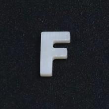 Mermer Kolye Küpe Ucu - F HARF