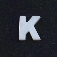 Mermer Kolye Küpe Ucu - K HARF