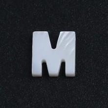 Mermer Kolye Küpe Ucu - M HARF