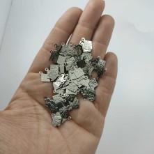 Metal Pul - Desenli Kare 10x12 mm